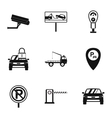 Parking area icons set simple style vector image vector image