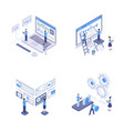 programming and coding isometric set vector image vector image