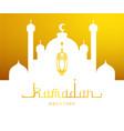 ramadan kareem greeting card arabic calligraphy vector image vector image