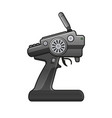 rc car radio control icon on white background vector image vector image