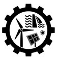 renewable energy industry icon vector image vector image