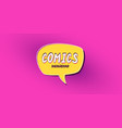 retro background with a comic book style dialog vector image