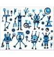 Robots icons set vector image