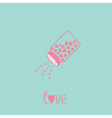Salt shaker with hearts Happy Valentines day vector image vector image