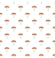 Sausage on fork pattern cartoon style vector image vector image