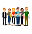 set diverse college or university students vector image
