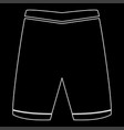 shorts the white path icon vector image