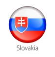 slovakia round button flag vector image vector image