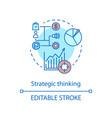 strategic thinking concept icon vector image