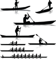 Various river rowers vector image vector image