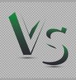 versus logo vs letters vector image vector image