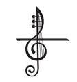 violin and treble clef vector image vector image