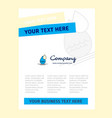 water drop title page design for company profile vector image vector image