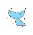 whale icon design vector image