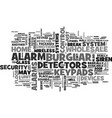 wholesale burglar alarm text word cloud concept vector image vector image