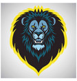 wild lion head logo mascot vector image vector image