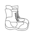 Winter boots equipment black and white