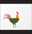 flat style of rooster symbo vector image