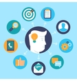 human resources concept in flat style vector image