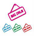 Set of big sales element simple vector image