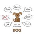 cartoon dog kids learning game vector image