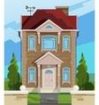 house English house facade vector image