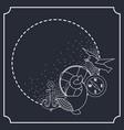 nautical set anchor lifebuoy whale wind rose vector image