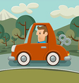 Car without fuel vector image