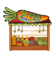 A green grocer shop vector image