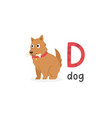 alphabet letter d and dog vector image vector image