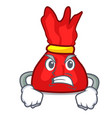 angry wrapper candy mascot cartoon vector image