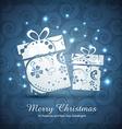 artistic christmas gift box vector image vector image