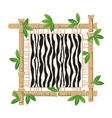 bamboo and zebra vector image vector image
