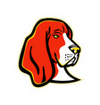 basset hound dog mascot vector image