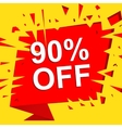 Big sale poster with 90 PERCENT OFF text vector image vector image