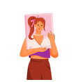 bookworm reads book about fashion literature vector image