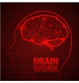 Brain work 1 vector image