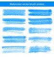 Bright blue watercolor brush strokes