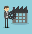 businessman with company vector image vector image