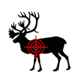 Caribou crosshair vector image vector image