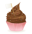Chocolate Flag Cupcake vector image vector image