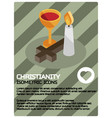 christianity color isometric poster vector image vector image