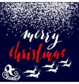 Christmas gold and white lettering design vector image