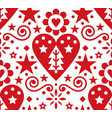christmas scandinavian folk art seamless pa vector image