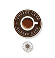 coffee logo cup coffee circle vector image vector image