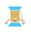 colorful kawaii cute funny thread object vector image vector image
