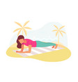 couple doing plank exercise core workout together vector image vector image