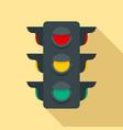 crosswalk semaphore icon flat style vector image vector image