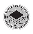 Crypto currency stratis black and white symbol