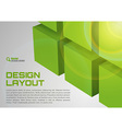 Cube design green vector image